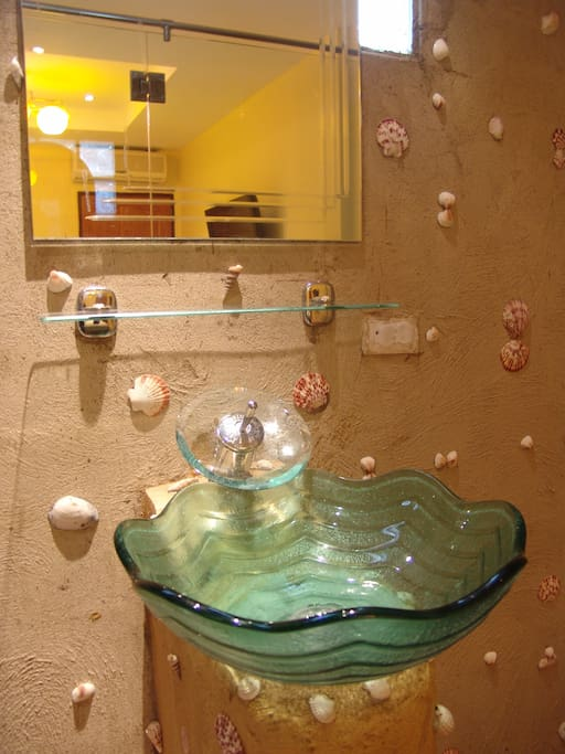 Seashell themed bathroom