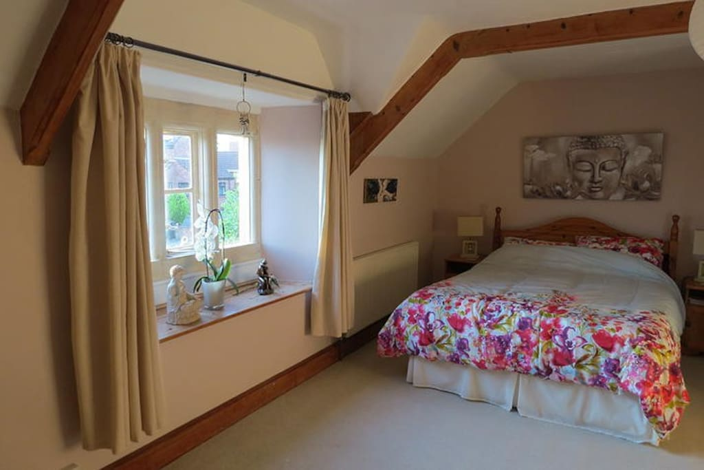Bedroom 1 - The Passion Bedroom - this large room boasts a king sized bed and en suite bathroom