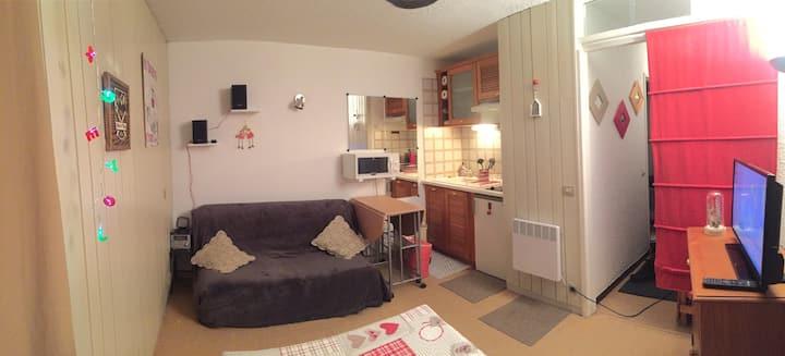 Studio 4 P centre  Pra-Loup 1600 Uvernet-Four