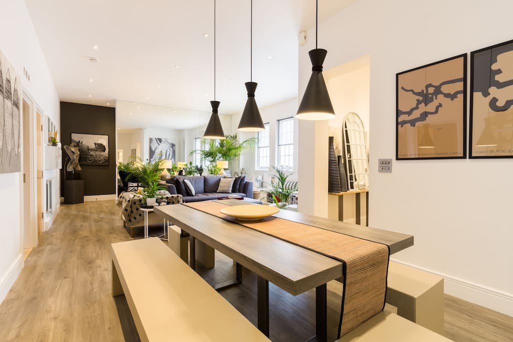 The dining area flows directly into the living area.