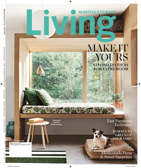 Our home featured in Martha Stewart Living magazine