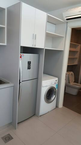 Refrigerator, washing machine & dryer available