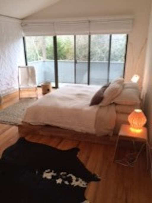 Bright bedrooms with large windows Master with King sz bed