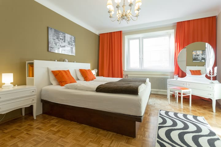 70's Retro Viennese Apartment 6 min to City Center