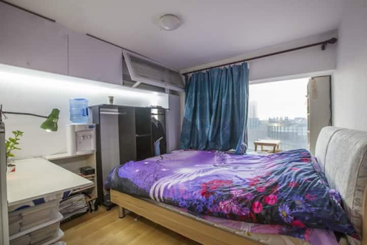 「ST.oneの家」两层loft,6号线旁的温馨卧房,开往南锣鼓巷、后海、天安门的小地铁