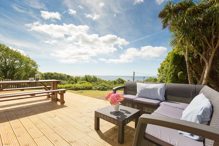 Modern seaside home -  sea views & beach location