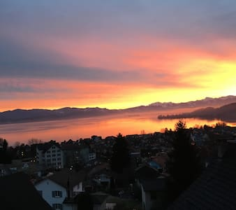 Amazing view over the lake of Zurich - Richterswil - 公寓