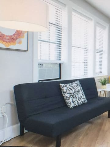 White clean home with nice furnitures