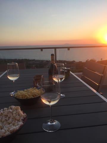 Attico vista Stromboli ed Eolie a Zambrone