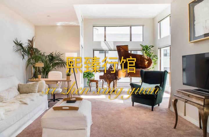 洛杉矶*熙臻行馆Da Vinci高级公寓整套精致两房两厅两卫套间