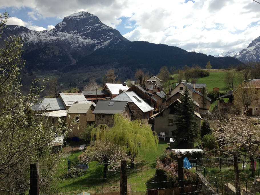View over La Balme, a small authentic village. Stay between the locals!