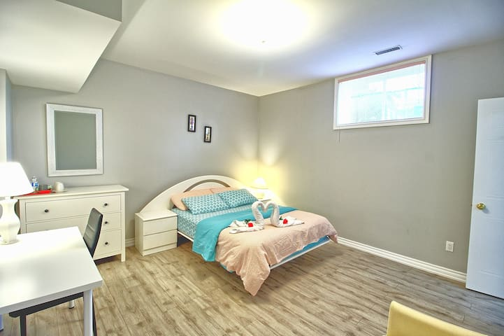 Bright basement with private Bathroom