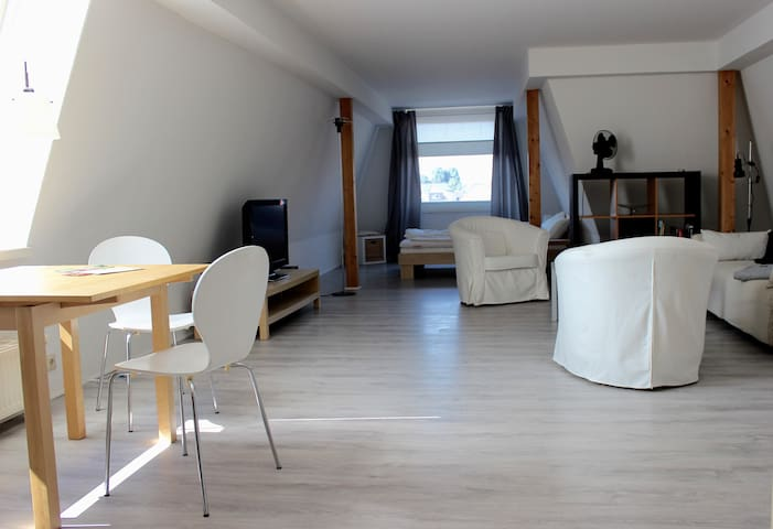 Ruhiges, zentrum-nahes Dachgeschoß-Apartment - Oldenburg - Appartement