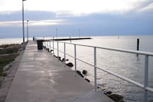 Public Fishing Pier minutes walk from house