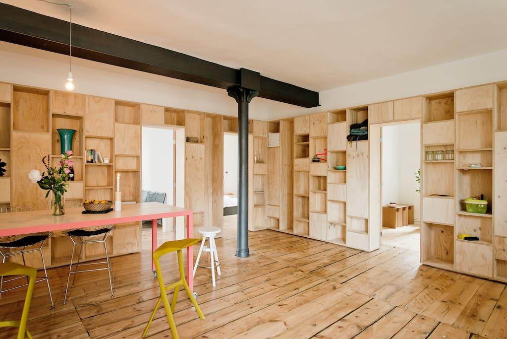 design loft in kreuzberg lofts for rent in berlin berlin germany. Black Bedroom Furniture Sets. Home Design Ideas