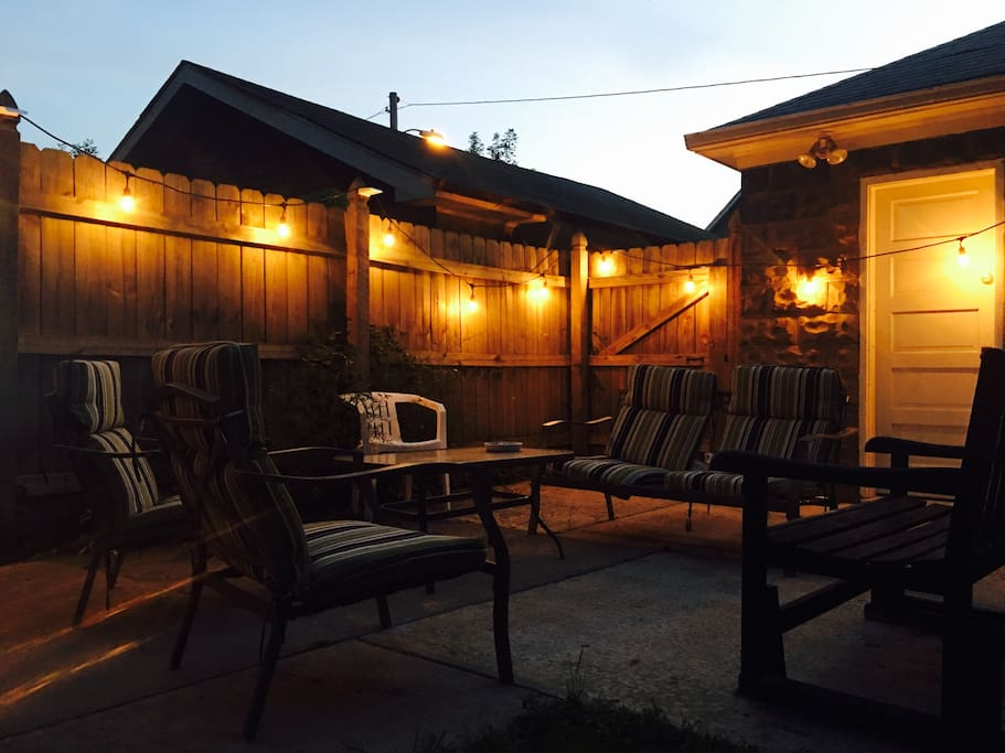 Relax in your nice fully fenced in back yard