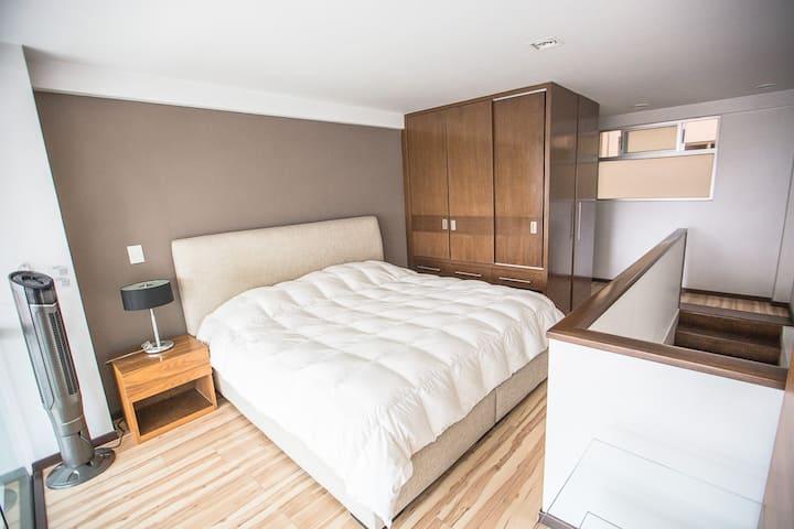 Depto.Loft 1-4.Ejecutivo 1 Dormitorio 1 Cama