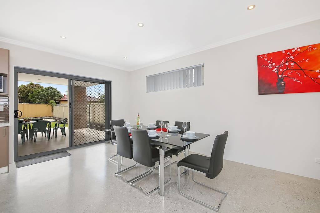 Dining Area with Access to the backyard