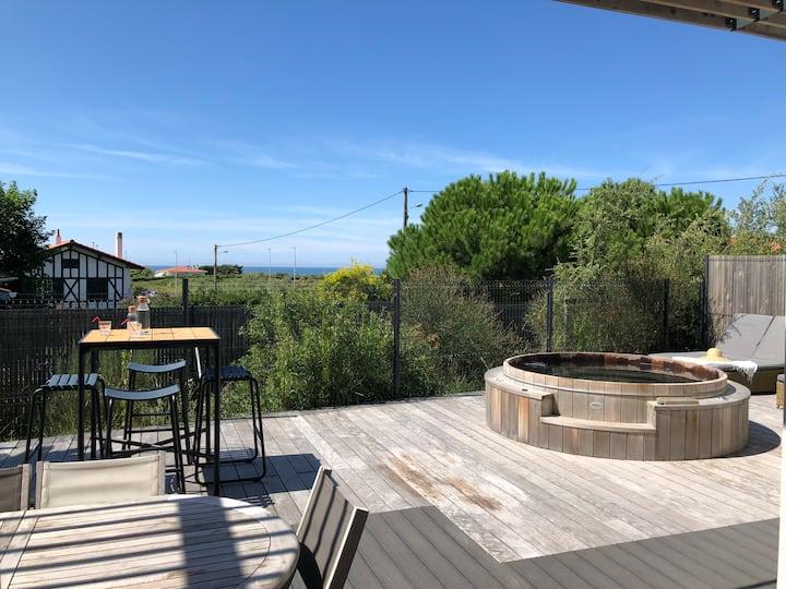 "The ""Beach House"", with SPA, Chiberta, Ocean view"