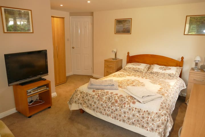 Spacious ground floor en-suite double room