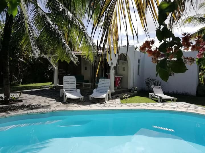 Villa with 3 bedrooms in Blue Bay, with private pool, enclosed garden and WiFi - 200 m from the beach