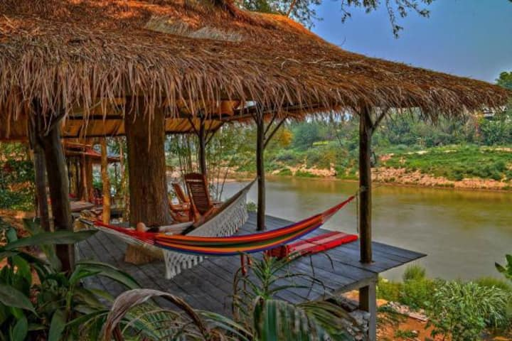 Bedroom for 8 by the river in Luang Prabang