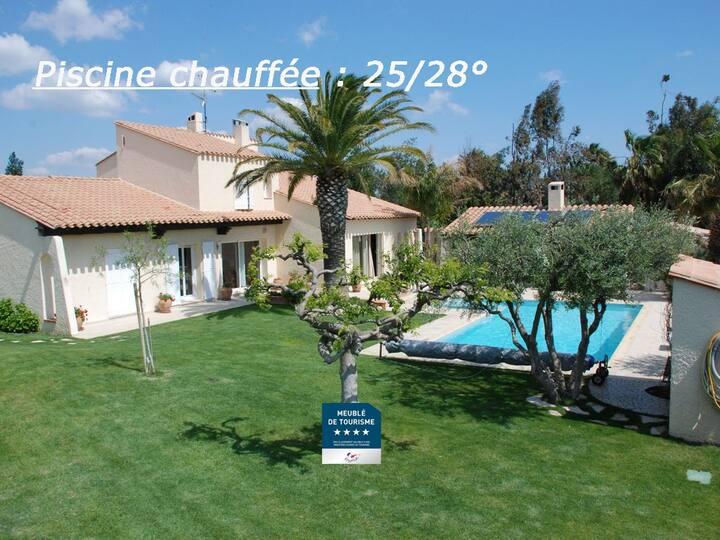 Villa 10 pers Golf Saint-Cyprien-plage,piscine