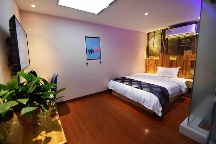 西安国际机场经济大床房24小时免费接送