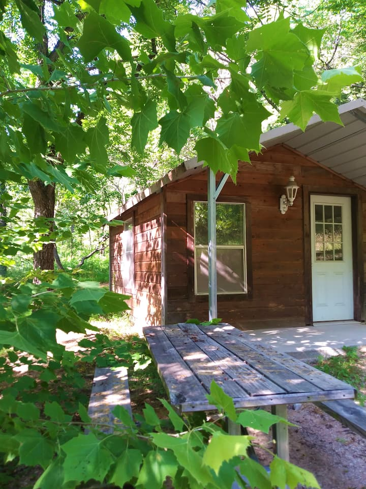 Camping Cabin in the Ozark Mountains
