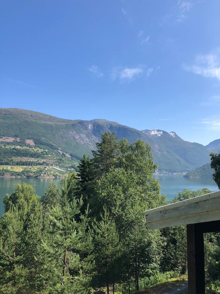 Olden by the fjords of Norway -Elvabakken