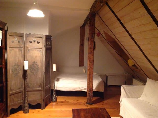 Schoene Dachwohnung im Zentrum - Landshut - Apartamento
