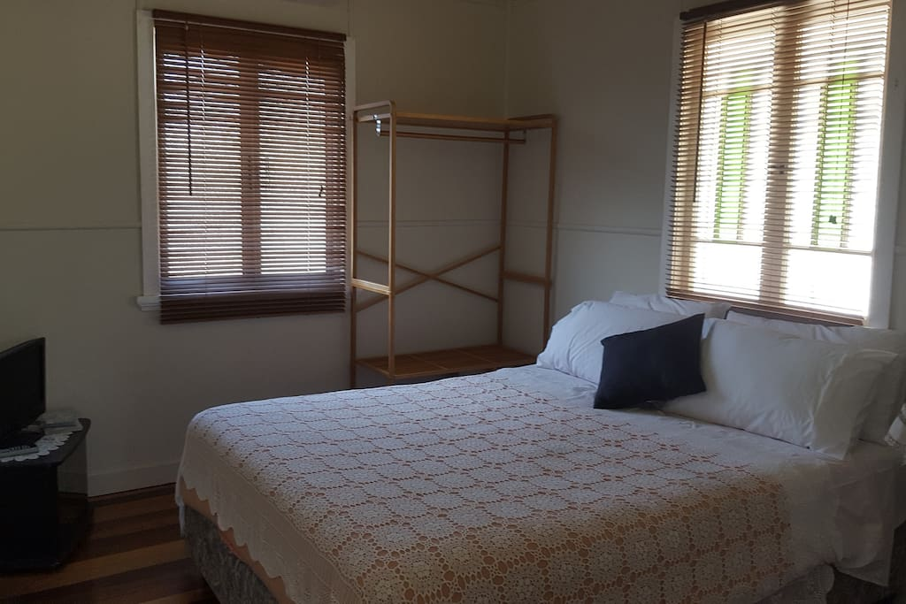 Air conditioned room with good natural light for reading while you rest during the day. Has its own tv for those night owls who love watching dvd's. My sister and husband watched 'Australia' twice running the first time they saw it.