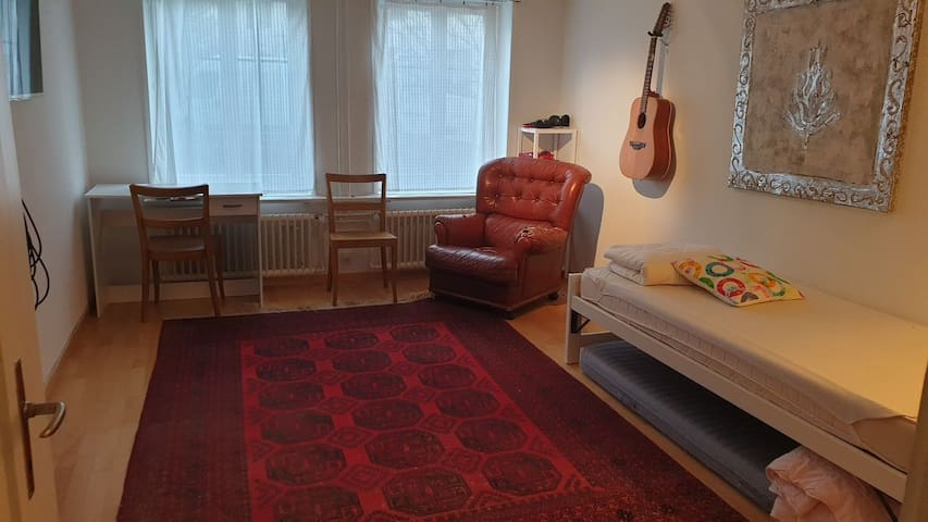 Flat, close to Zurich, 500 m from Train Station