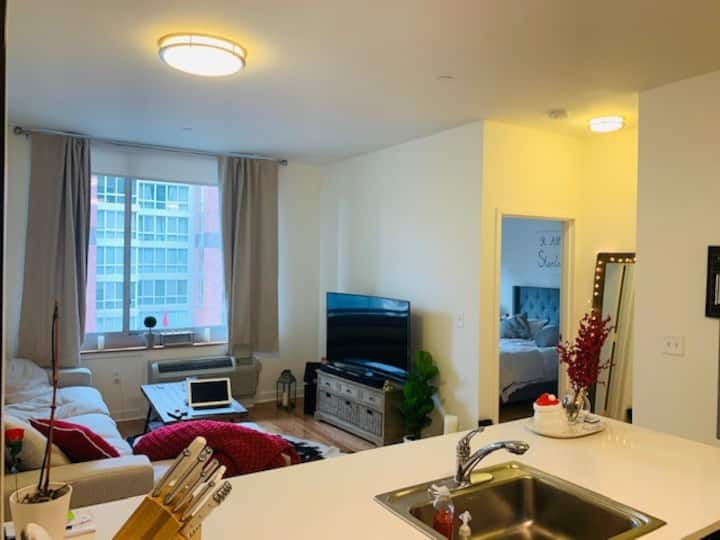 Modern One bedroom apt minutes from Manhattan