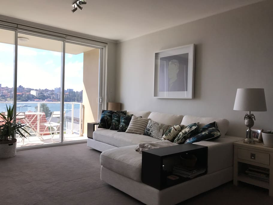 Lounge on the comfy sofa and enjoy the outlook...