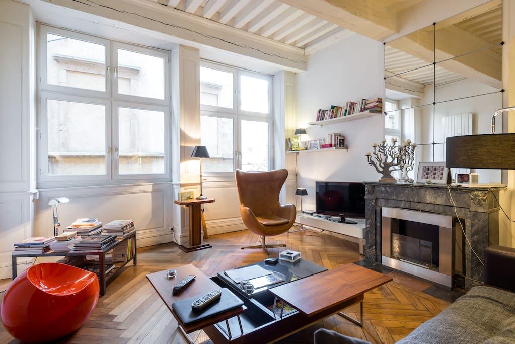 loft dans vieux lyon loft in affitto a lione ra francia. Black Bedroom Furniture Sets. Home Design Ideas