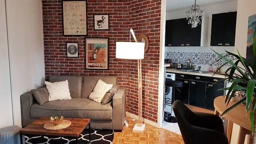 Appartement cosy, calme, bien équipé et lumineux !