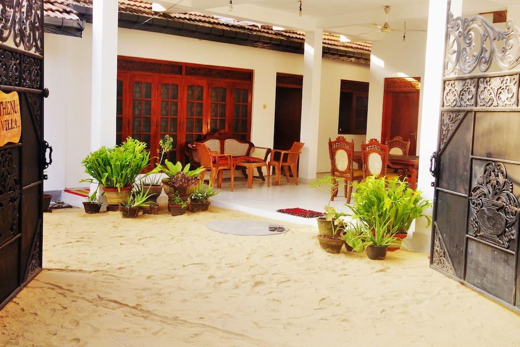 Thenu Villa - Entrance - Thenu Villa – Hikkaduwa – Sri Lanka