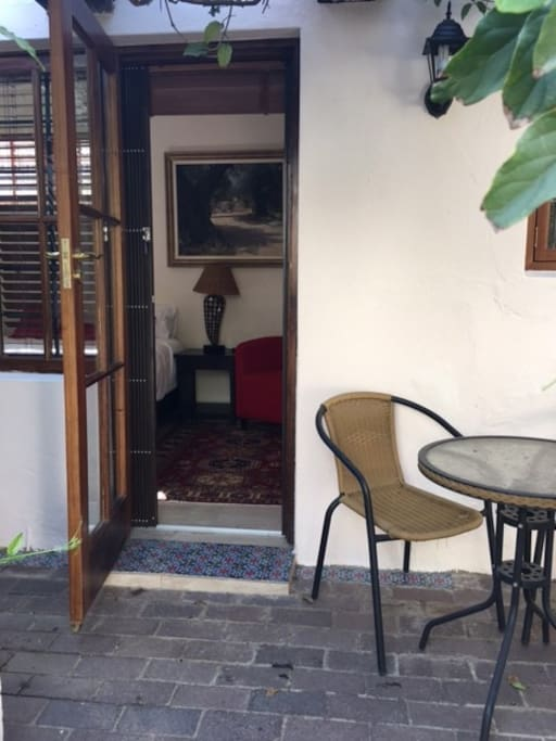 Separate entrance self contained bedsit with private outdoor space