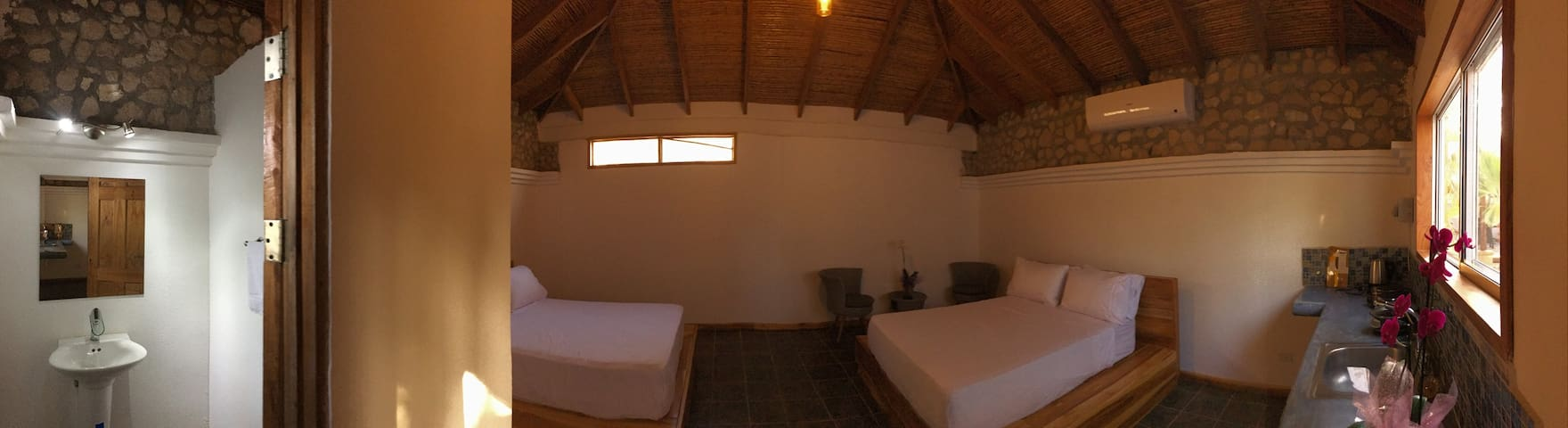 Big full room , 2 beds close to the beach
