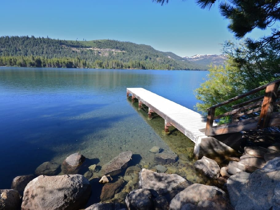 Public docks on Donner Lake are only a block away from the house.