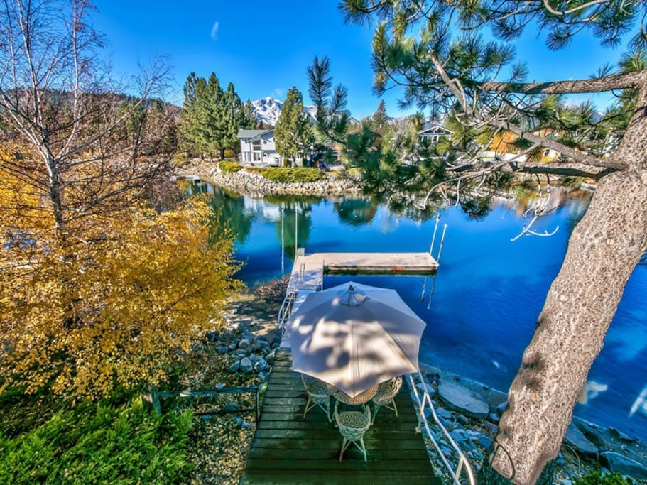 The boat dock on the Tahoe Keys