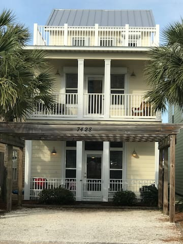 Picture of 3 story home right across the street from the beach! Enjoy!