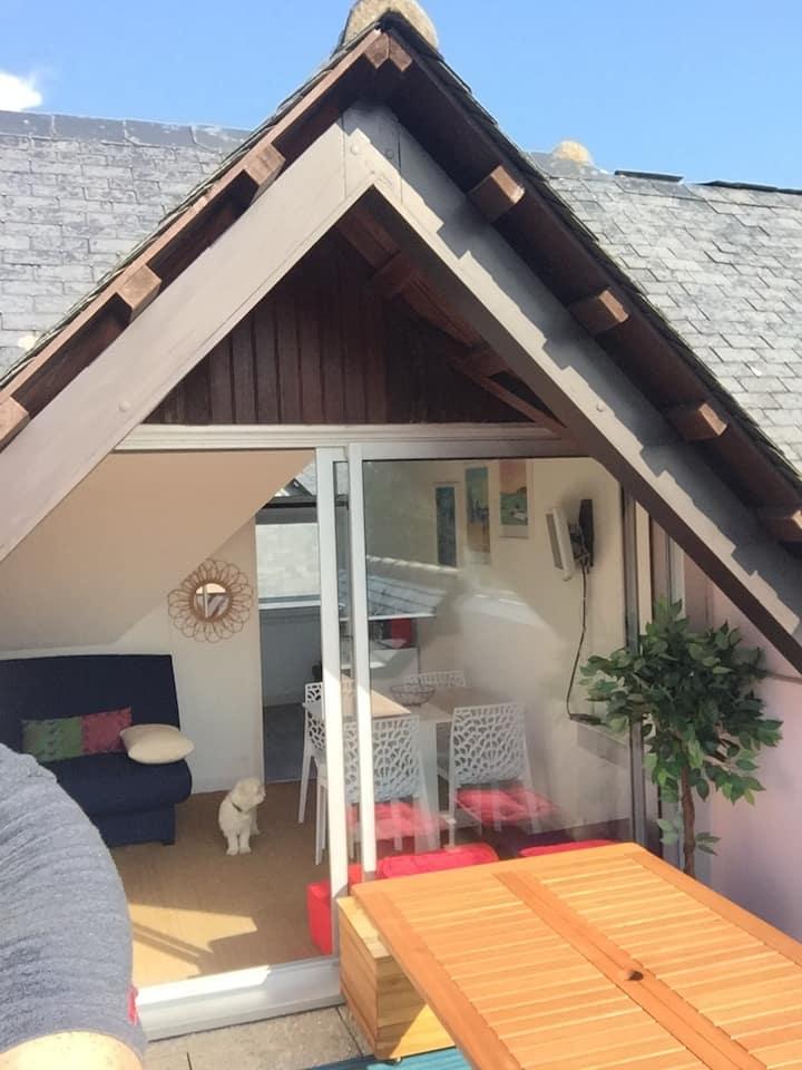 Studio Carnac-plage idéalement situé