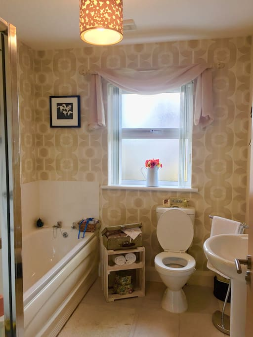 The main bathroom for the sole use of the guest.
