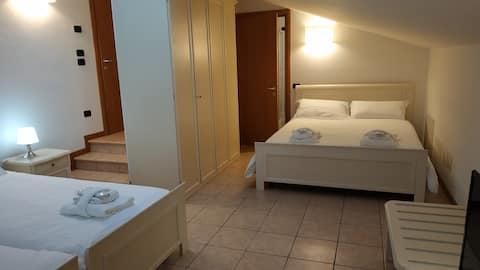 La Rotonda Relais Family Room Private Bathroom