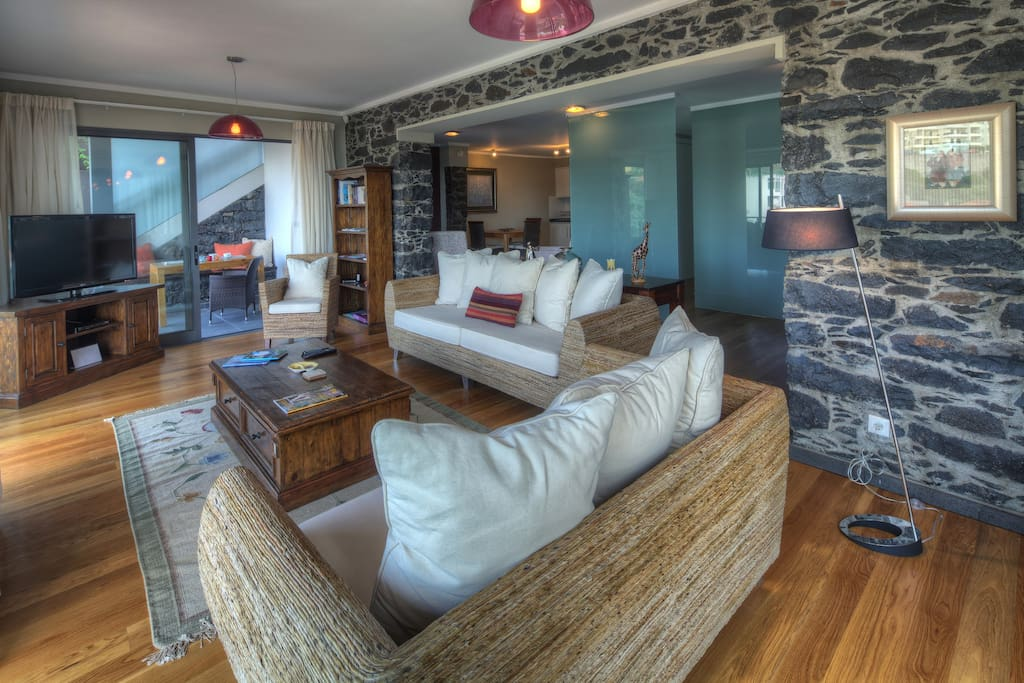 Spacious lounge leading out to the decked veranda