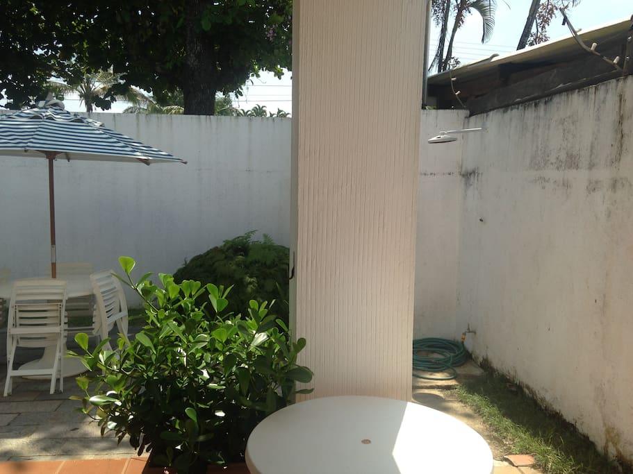 Área externa - chuveiro