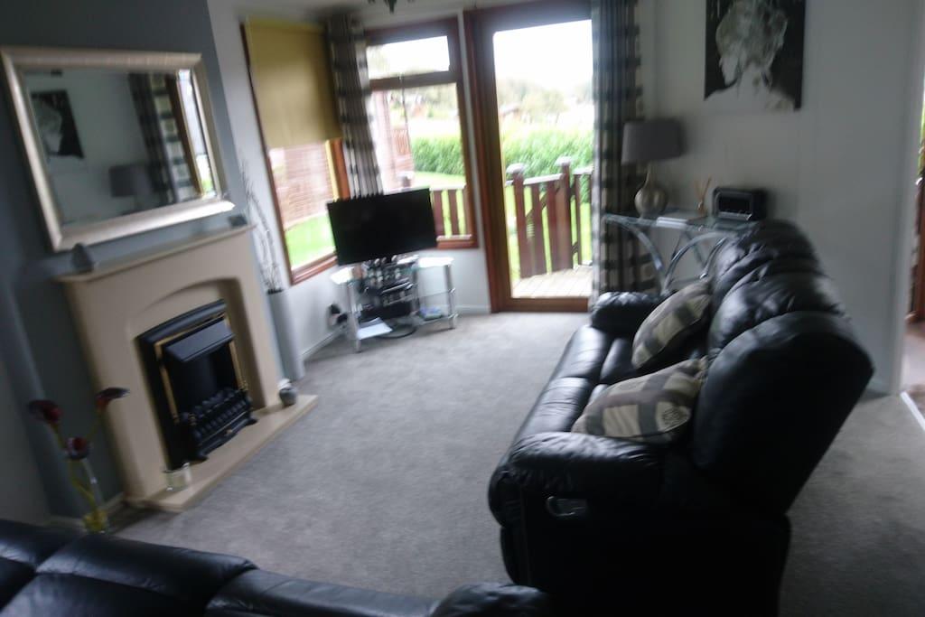 Lounge with tv dvd radio