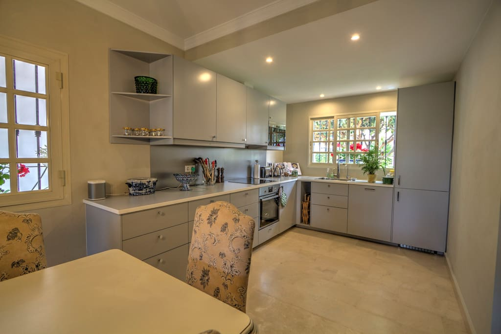Nice and bright modern kitchen with high end appliances
